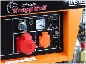 Anschlüsse bei einem Stromerzeuger Diesel